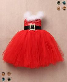 Party Princess Double Layered Party Dress - Red