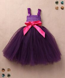 Party Princess Double Layered Party Dress - Purple
