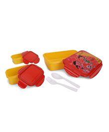 Chhota Bheem Lunch Box Set Chutki and Bheem Print - Red and Yellow