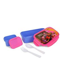 Chhota Bheem Lunch Box Chutki and Bheem Print - Blue Pink