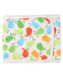 Adore Baby Belly Binder Bird Print - White & Multicolor