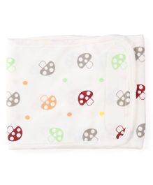 Adore Baby Belly Binder Allover Mushroom Print - White & Multicolor