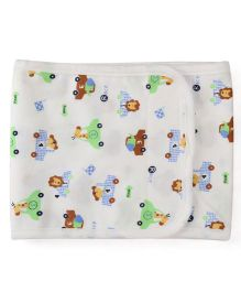 Adore Baby Belly Binder Race Print - White & Multicolor