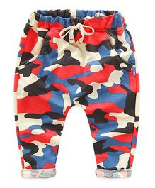 Mauve Collection Printed Pants - Red & Multicolour