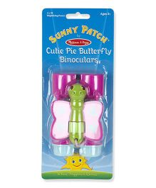 Melissa And Doug Cutie Pie Butterfly Binoculars - Pink Green