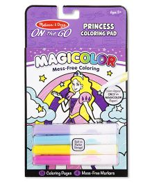 Melissa And Doug Magicolor Coloring Pad Purple Princess Theme - 18 Pages
