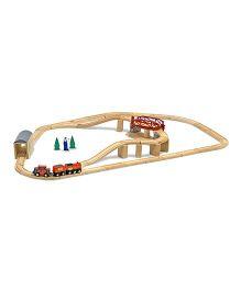 Melissa And Doug Wooden Swivel Bridge Train Set - Multicolor