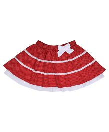 9 Yrs Younger Sleeveless Frock Bow Applique - Red White