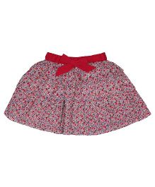 9 Yrs Younger Skirt Bow Applique - Multi Color