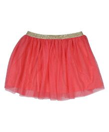9 Yrs Younger Net Skirt - Peach