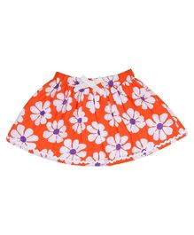 9 Yrs Younger Floral Printed Skirt - Orange