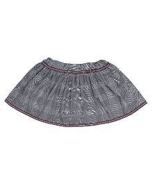 9 Yrs Younger All Over Check Printed Skirt - Grey