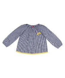9 Yrs Younger Full Sleeves Checks Top - Blue