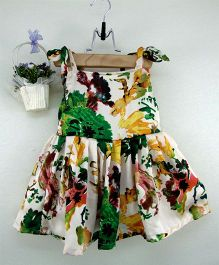 Tiny Toddler Floral Print Dress - Multicolour