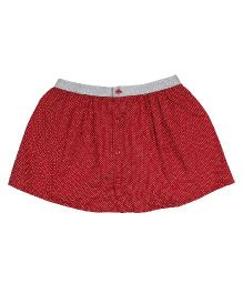 9 Yrs Younger Dotted Print Skirt - Red