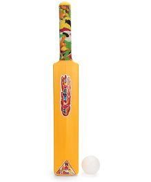 Luvely Cricket Bat And Ball - Yellow