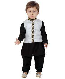 Kidology Ghazal Jodhpuri Set - Black & Silver