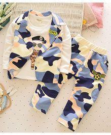 Pre Order - Lil Mantra Camouflage Print Three-Piece Set - Multicolour