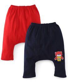 Babyhug Diaper Legging Pack Of 2 - Navy & Red