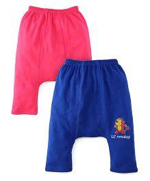 Babyhug Diaper Legging Pack Of 2 - Pink Blue