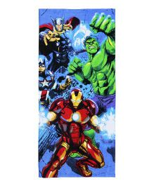 Spaces Marvel Avengers Print Kids Cotton Bath Towel - Navy Blue