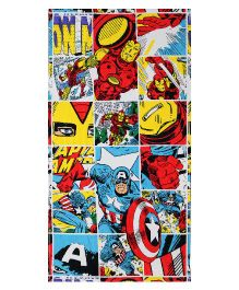 Spaces Marvel Comic Print Kids Cotton Bath Towel - Multicolour