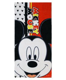 SPACES Disney Mickey Mouse Print Kids Cotton Bath Towel - Red