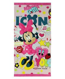 SPACES Disney Minnie Mouse Print Kids Cotton Bath Towel - Pink