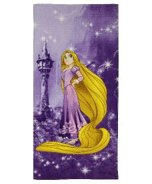 SPACES Disney Rapunzel Print Kids Cotton Bath Towel - Purple