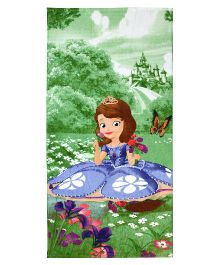Spaces Disney Sophia Print Kids Cotton Bath Towel - Green