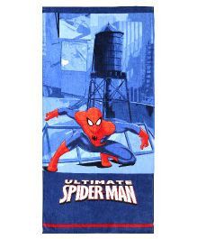 SPACES Spider Man Print Kids Cotton Bath Towel - Navy