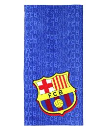 SPACES FCB Print Kids Cotton Bath Towel - Navy Blue