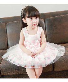 Pre Order - Tulip Dot Print Tutu Dress - Pink