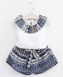 Pre Order - Tulip Top & Shorts Set - Blue