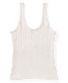 Bodycare White Sleeveless Thermal Vest