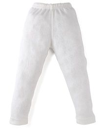 Bodycare Heart Design Thermal Leggings - Off White