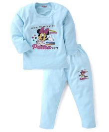 Bodycare Wear Your Polka Dot Printed Winter Wear  Set - Cyan Blue