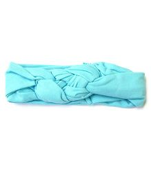 Wow Kiddos Turban Knitted Knot Headband - Light Blue
