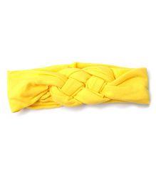 Wow Kiddos Turban Knitted Knot Headband - Yellow
