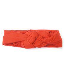 Wow Kiddos Turban Knitted Knot Headband - Red