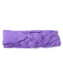 Wow Kiddos Turban Knitted Knot Headband - Purple