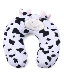 Animal Face Neck Support Pillow - White Black