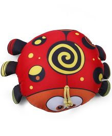 Baby Soft Ladybug Shaped Pillow - Black And Red