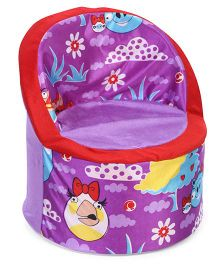 Luvely Kids Smart Sofa Angry Birds Print - Purple Red