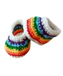 Knits & Knots Rainbow Booties - Multicolor