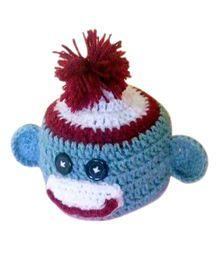 Knits & Knots Sock Monkey Cap - Blue & White