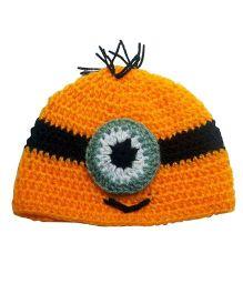 Knits & Knots Cartoon Cap - Yellow & Black