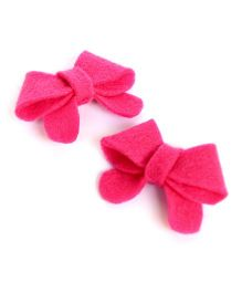 Pigtails & Ponys Floral Bow Clips - Pink