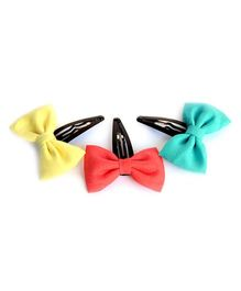 Pigtails & Ponys Layered Felt Bow - Multicolour