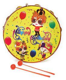 Mansaji Crazy Dafli Happy Birthday Print - Orange Yellow
